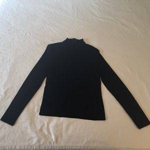 Gucci Rayon Jersey Knit Mock T-Neck Blouse